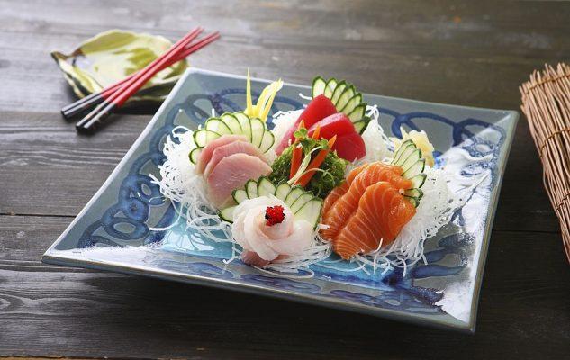 Set rau sashimi
